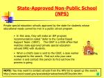 state approved non public school nps