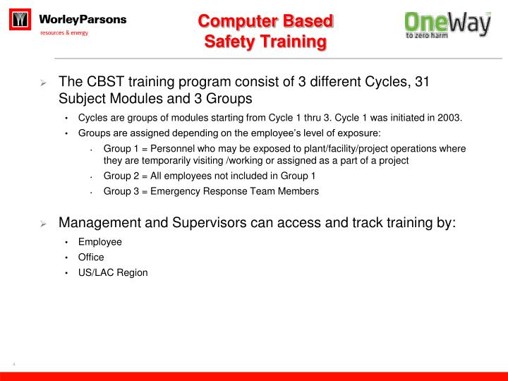 Computer Based Safety Training