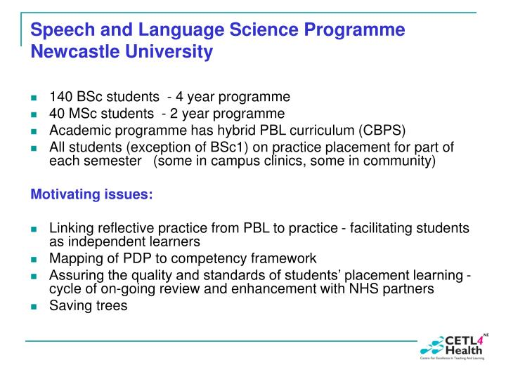 Speech and language science programme newcastle university