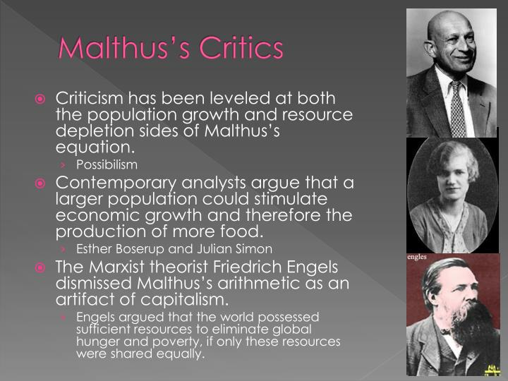 Malthus's Critics