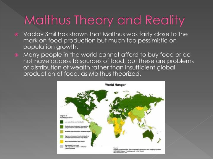 Malthus Theory and Reality