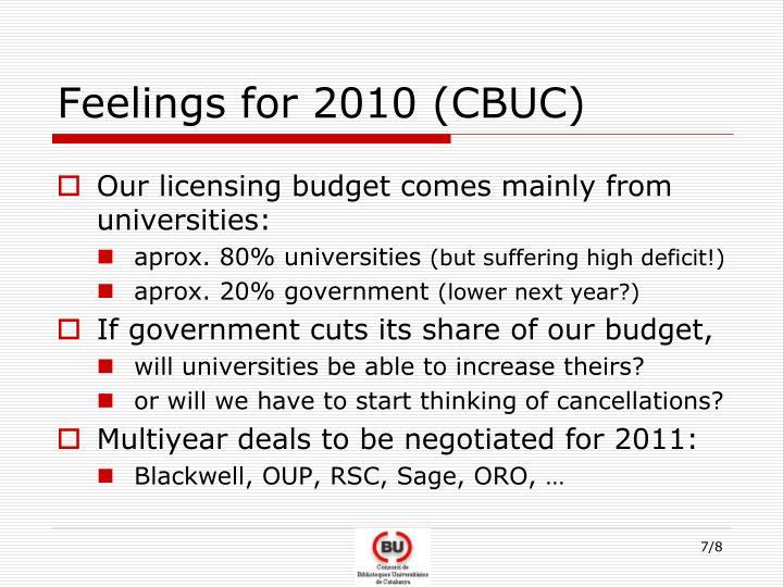 Feelings for 2010 (CBUC)