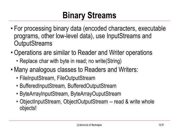 Binary Streams