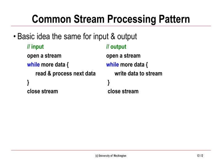 Common Stream Processing Pattern