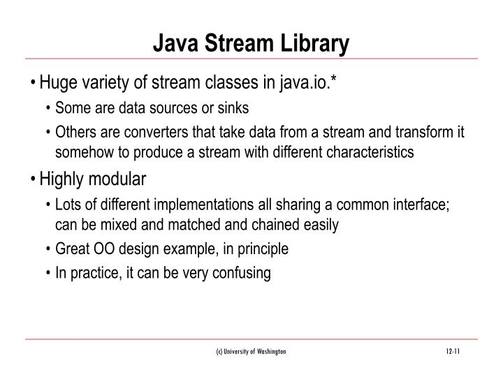 Java Stream Library