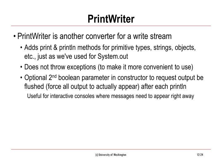 PrintWriter