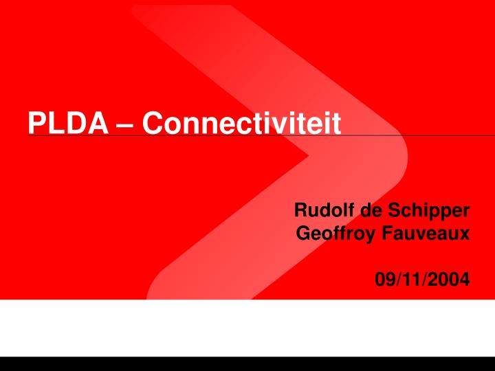 Plda connectiviteit