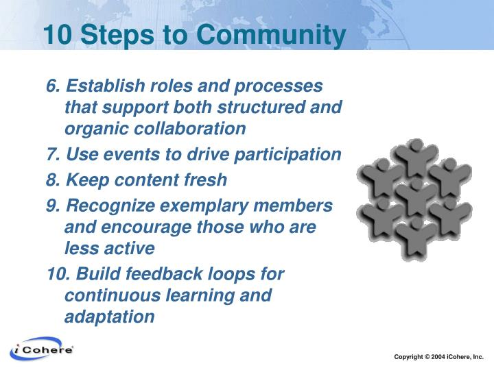 10 Steps to Community