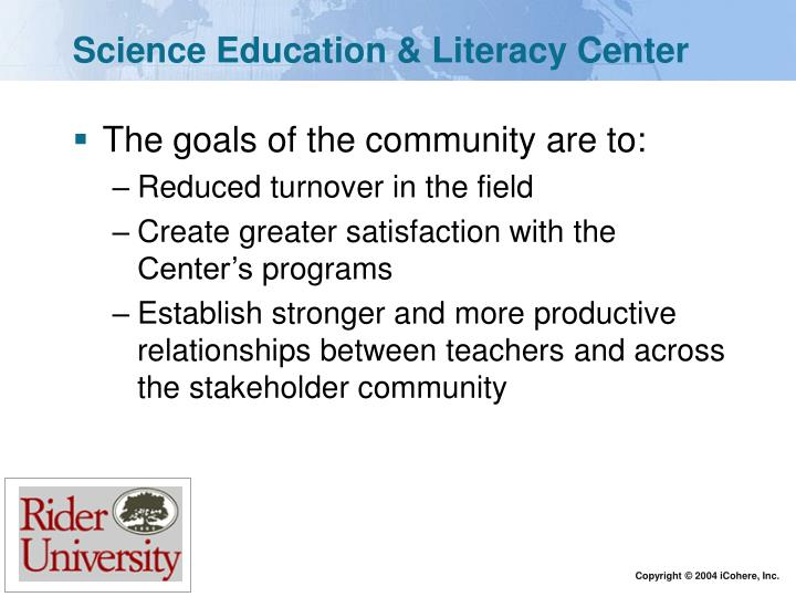 Science Education & Literacy Center