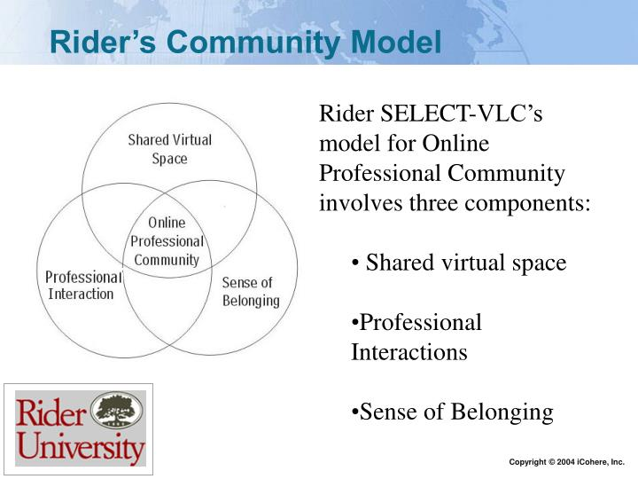 Rider's Community Model