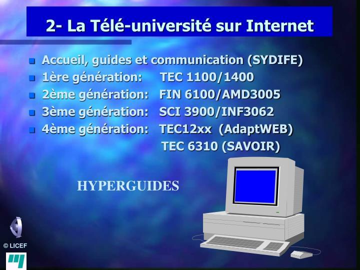 2- La Télé-université sur Internet
