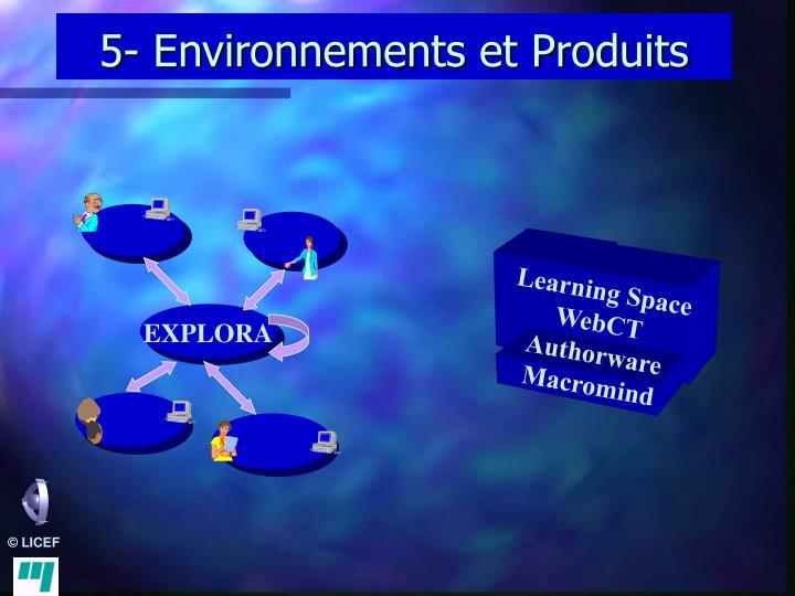 5- Environnements et Produits