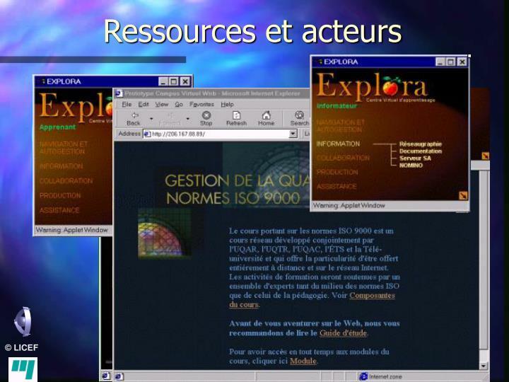 Ressources et acteurs