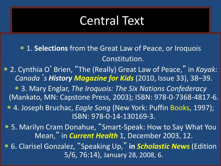 Central Text