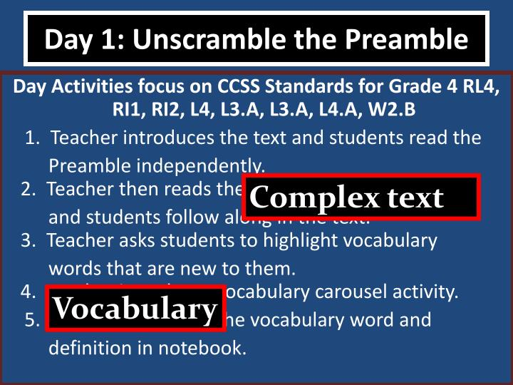 Day 1: Unscramble the Preamble