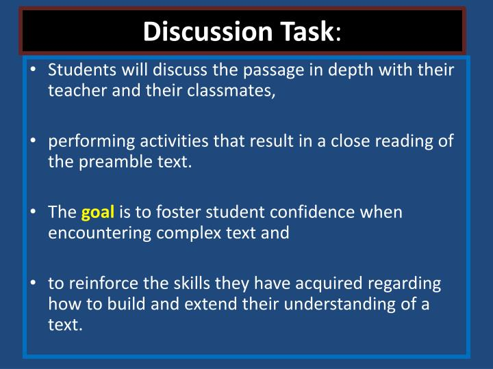 Discussion Task