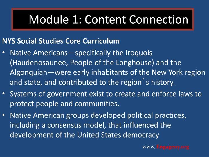 Module 1: Content Connection