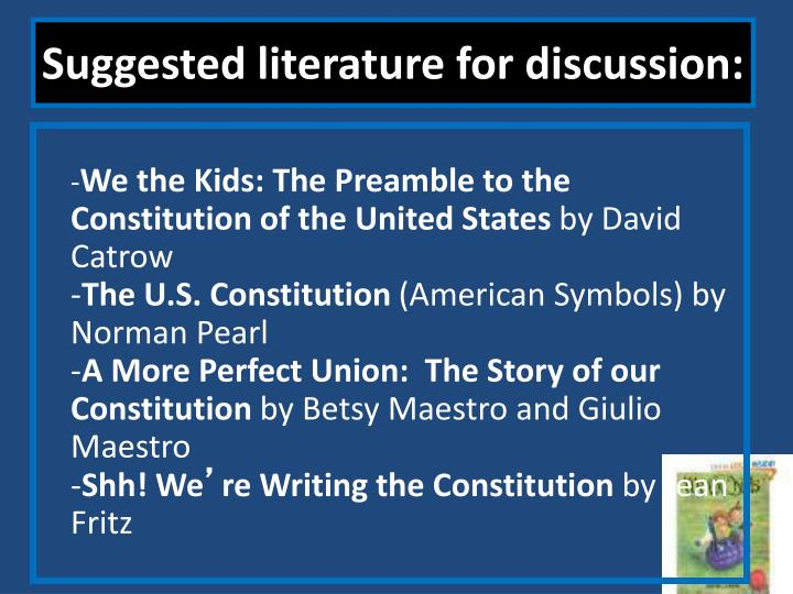 Suggested literature for discussion: