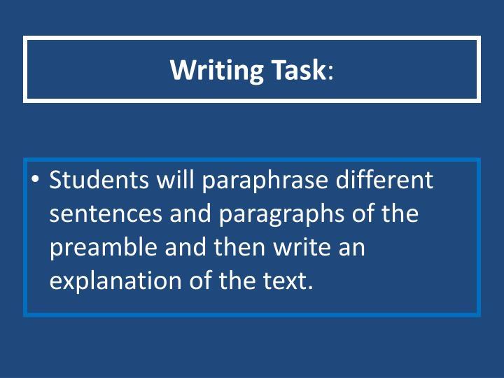 Writing Task