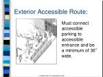 exterior accessible route