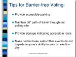 tips for barrier free voting