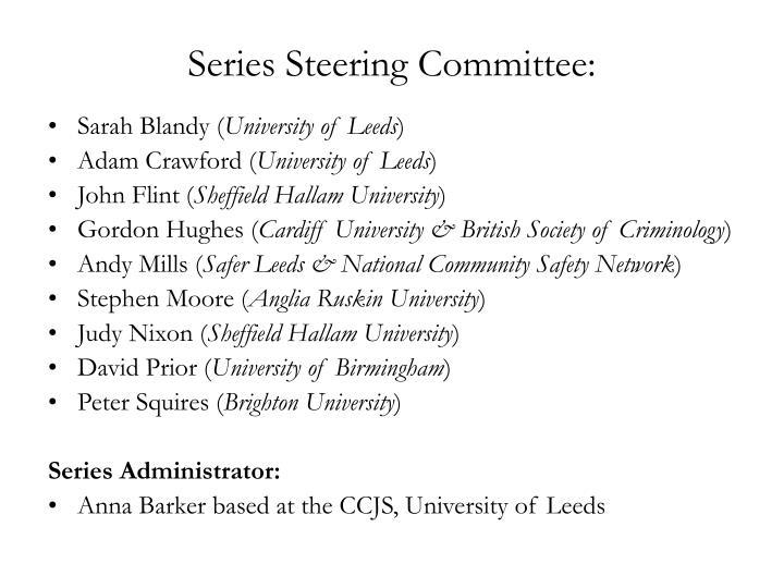 Series Steering Committee: