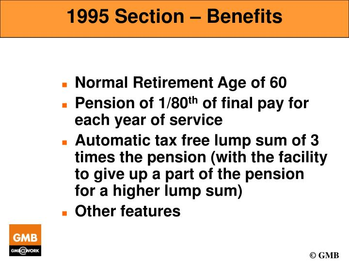 1995 Section – Benefits