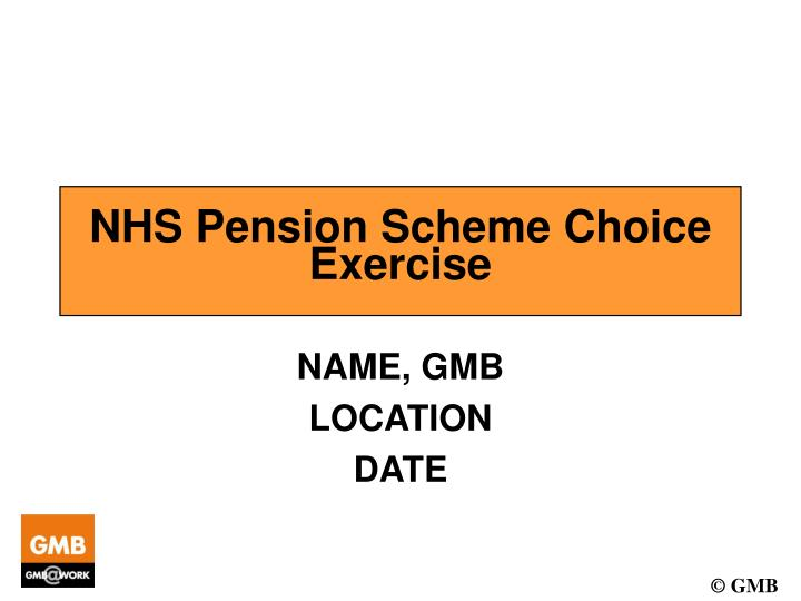 Nhs pension scheme choice exercise