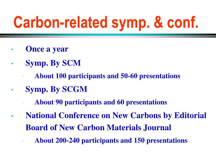 Carbon-related symp. & conf.
