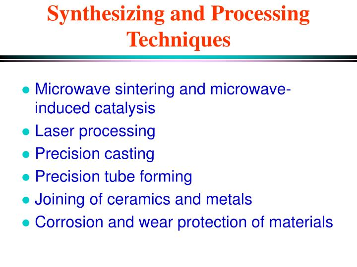 Synthesizing and Processing