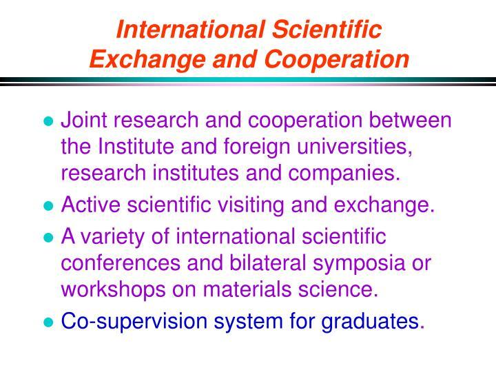 International Scientific