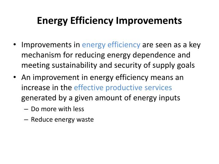Energy Efficiency Improvements