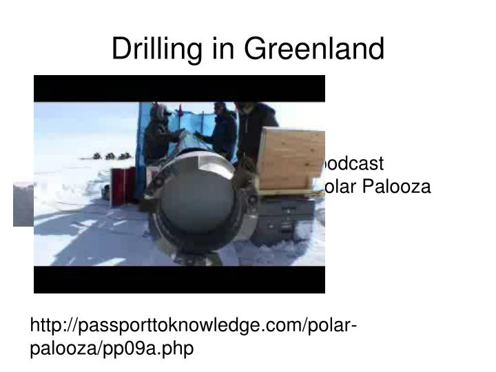 Drilling in Greenland