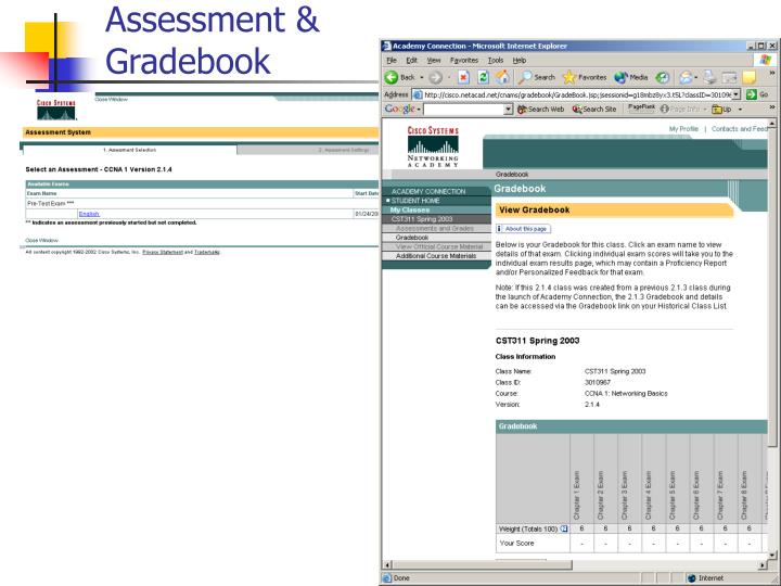 Assessment & Gradebook