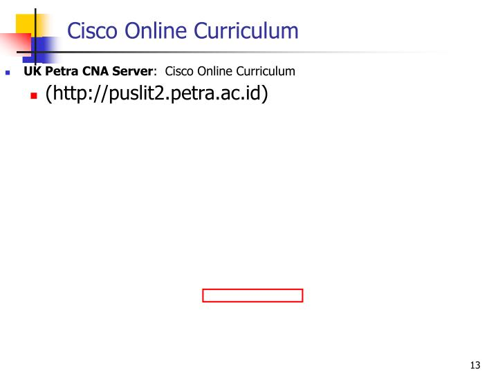 Cisco Online Curriculum