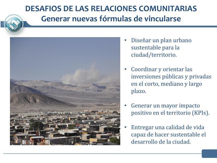 DESAFIOS DE LAS RELACIONES COMUNITARIAS