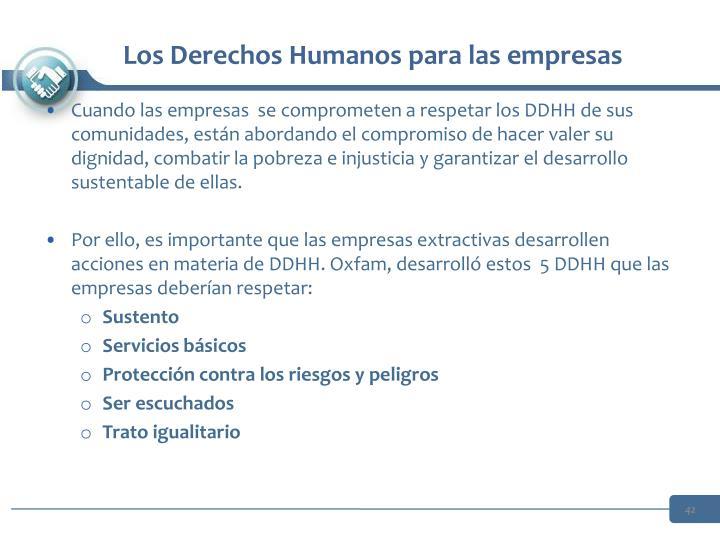 Los Derechos Humanos para las empresas