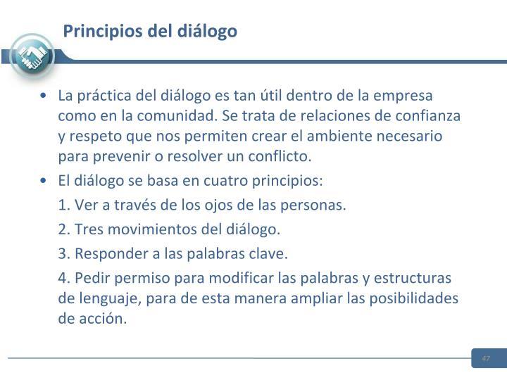 Principios del diálogo