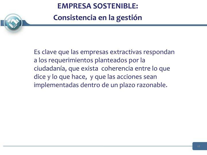 EMPRESA SOSTENIBLE: