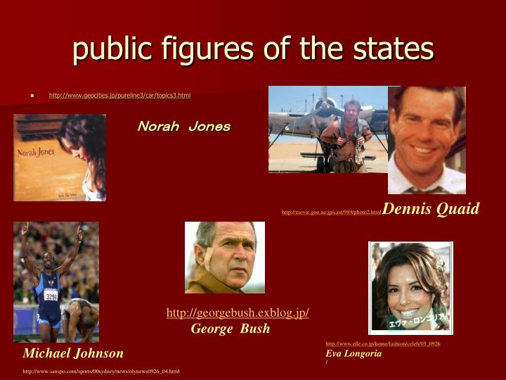 public figures of the states