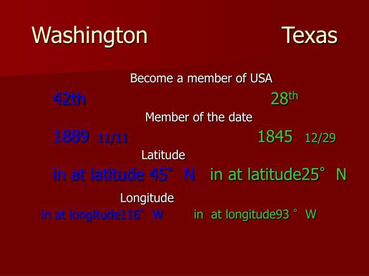Washington                   Texas