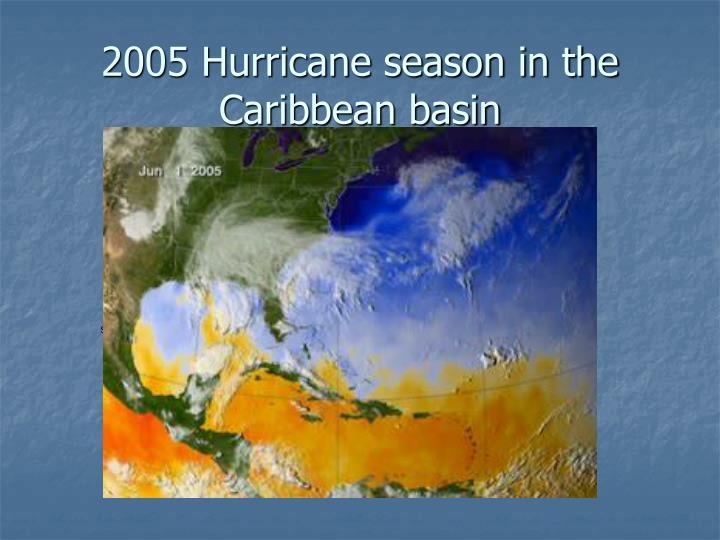 2005 Hurricane season in the Caribbean basin
