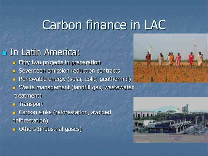 Carbon finance in LAC