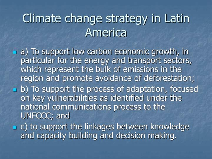 Climate change strategy in Latin America