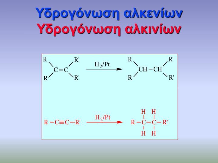Υδρογόνωση αλκενίων