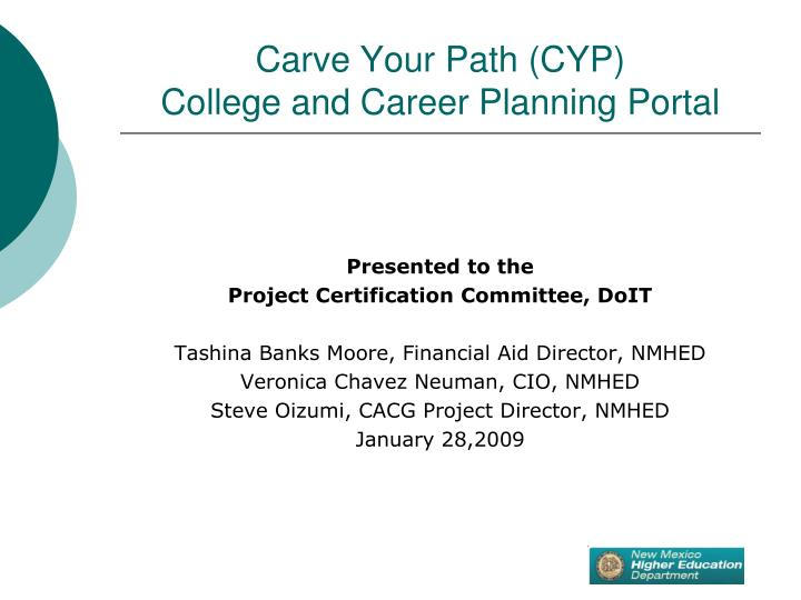 Carve your path cyp college and career planning portal