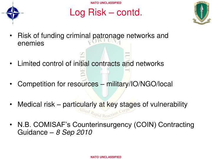 Log Risk – contd.