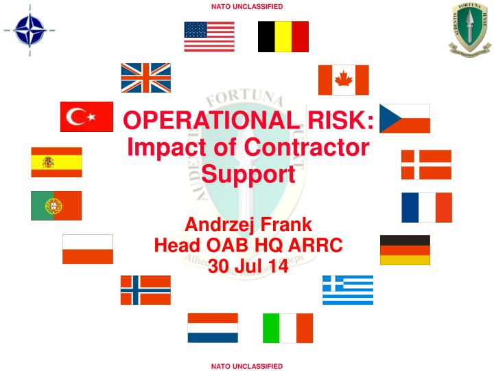 OPERATIONAL RISK: