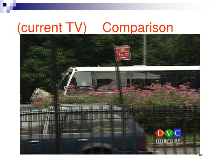 Comparison (current TV)