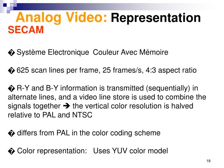 Analog Video: